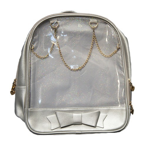Ita Bag - Silver with Gold Chains