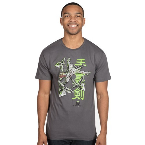 Overwatch Genji's Warrior Spirit Gray Adult Men's T-Shirt