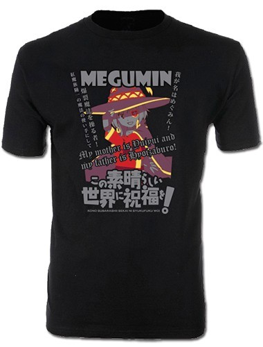 Konosuba Megumin Black Adult Men's T-Shirt