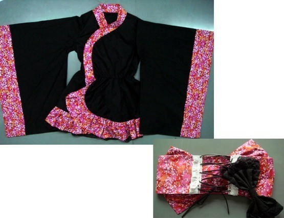 Black and Pink Lolita Dress M
