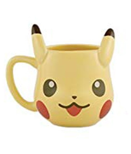 Pokemon Pikachu Tea Party Smiling Pikachu Shaped Coffee Mug Cup