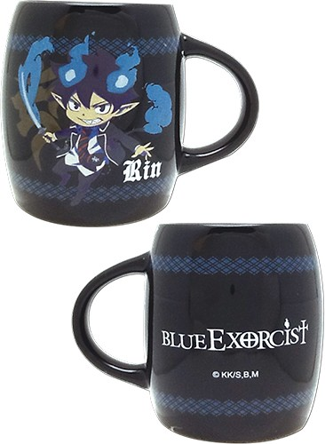 Blue Exorcist Chibi Rin Black Coffee Mug Cup