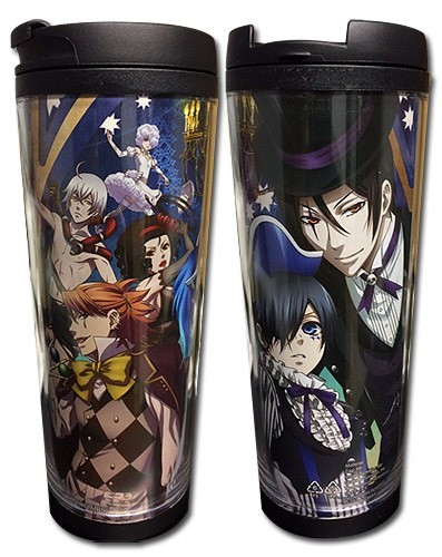 Black Butler Book of Circus Key Art Tumbler Coffee Mug Cup