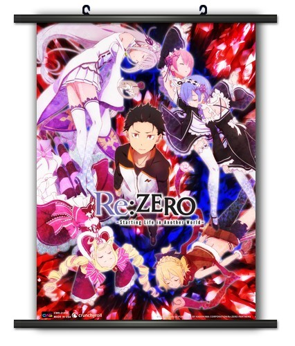 Re:Zero Group Wall Scroll Poster