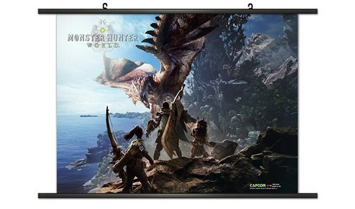 Monster Hunter World Rathalos Coastline Wall Scroll Poster
