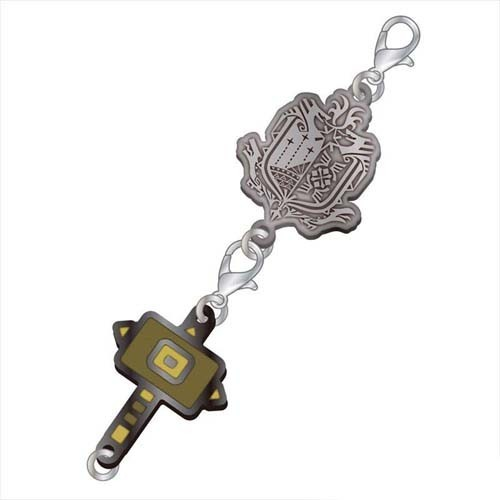 Monster Hunter Hammer Weapons Metal Fastener Charm