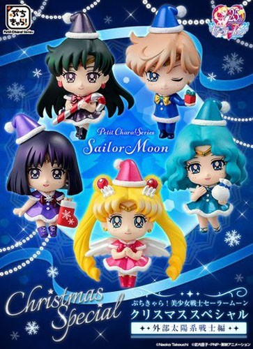 Sailor Moon Petit Chara Land Outer Scouts Christmas Special Trading Figure Set