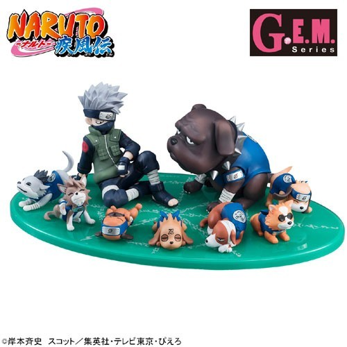 Naruto Kakashi and Dogs 1/9 Scale G.E.M Megahouse Figure