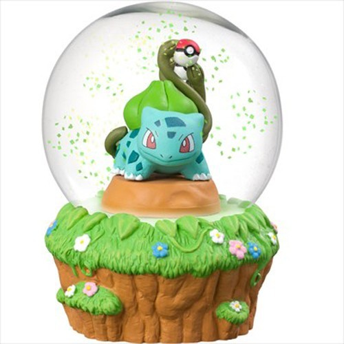 Pokemon 3'' Bulbasaur Glass Snow Globe Figure