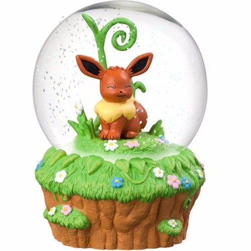 Pokemon 3'' Eevee Glass Snow Globe Figure