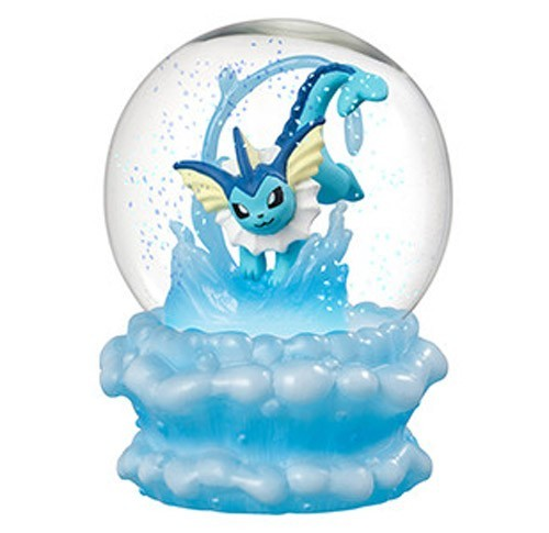 Pokemon 3'' Vaporeon Glass Snow Globe Figure