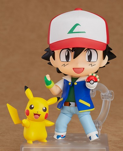 Pokemon Satoshi Ash and Pikachu Nendoroid Action Figure