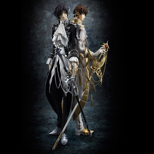 Code Geass Rebellion R2 Clamp Works Lelouch and Suzaku 1/9 Scale G.E.M Megahouse Figure Set