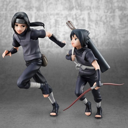 Naruto Itachi and Sasuke Uchiha Children G.E.M 1/9 Scale Megahouse Figure Set