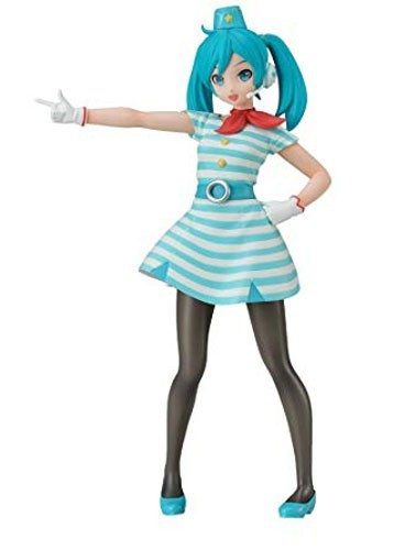 Vocaloid 8'' Flight Attendant Miku Future Tone Prize Figure
