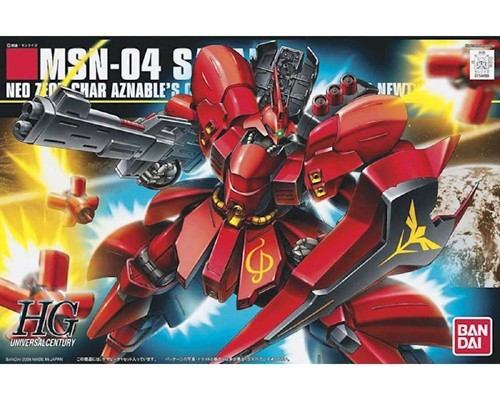 Gundam MSN-04 Sazabi Char's Counterattack HGUC Model Kit Figure