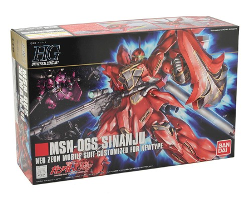 Gundam MSN-06S Sinanju Neo Zeon Mobile Suit Customized for Newtype HG Model Kit Figure