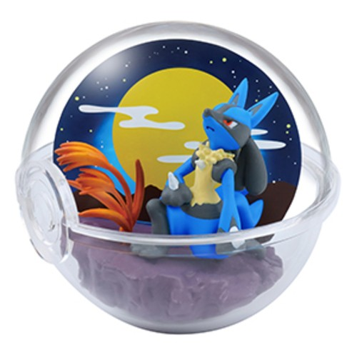 Pokemon 2'' Lucario Four Seasons Terrarium Collection Trading Figure