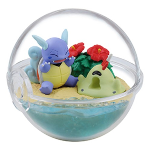 Pokemon 2'' Wartortle and Sandygast Four Seasons Terrarium Collection Trading Figure