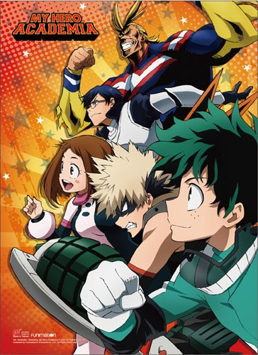 My Hero Academia Group Looking Forward Wall Scroll Poster