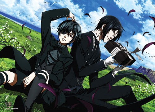 Black Butler Sebastian and Ciel on Field Wall Scroll Poster (U.S. Customers Only)