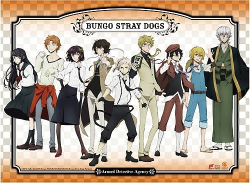 Bungo Stray Dogs Group Wall Scroll Poster (U.S. Customers Only)