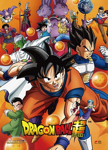 Dragonball Z Super Group w/ Dragon Balls Wall Scroll Poster