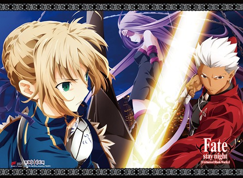 Fate Stay Night Saber, Rider, and Archer Wall Scroll Poster (U.S. Customers Only)