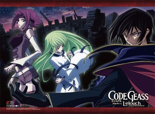 Code Geass Lelouch, C.C. and Kallen Wall Scroll Poster (U.S. Customers Only)