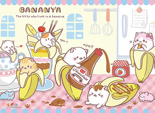 Bananya Group Wall Scroll Poster (U.S. Customers Only)