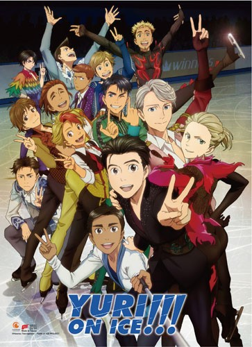 Yuri On Ice Large Group Wall Scroll Poster