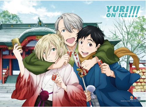 Yuri On Ice Wafuku Group Wall Scroll Poster (U.S. Customers Only)