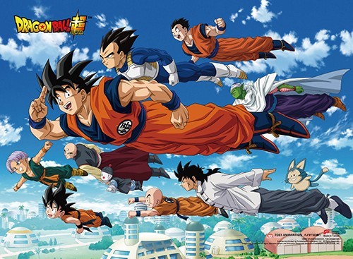 Dragonball Z Group Flying Wall Scroll Poster (U.S. Customers Only)