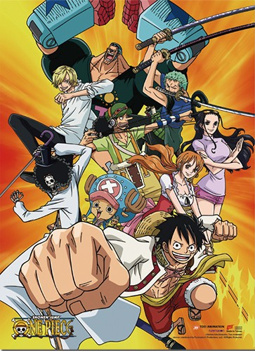 One Piece Action Group Wall Scroll Poster