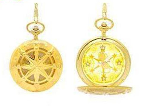 Card Captor Sakura Gold Kero-chan Pocket Watch