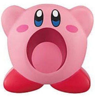 Kirby of the Stars 1'' Mouth Open Front View Bag Clip