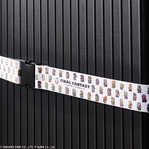 Final Fantasy Chibi Characters White Luggage Strap
