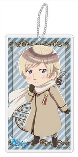 Hetalia Axis Powers Russia Beautiful World Clear Strap Key Chain