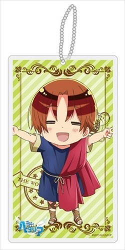Hetalia Axis Powers Italy Cultural Outfit Beautiful World Clear Strap Key Chain