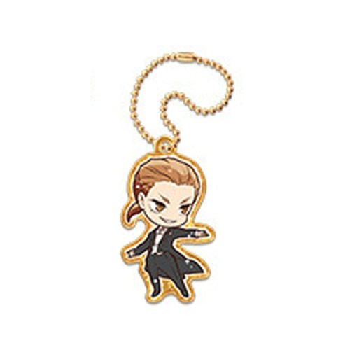 Welcome To Ballroom Gaju Akagi Metal Charm Key Chain