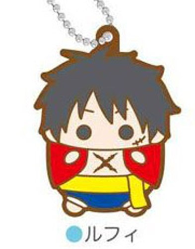 One Piece Luffy Tamakoro Rubber Key Chain