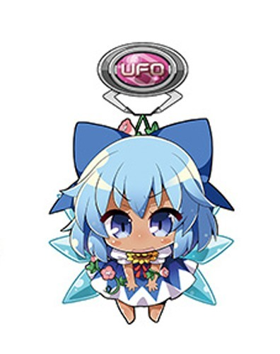 Touhou Project Sun Tanned Cirno UFO Vol. 4 Acrylic Key Chain