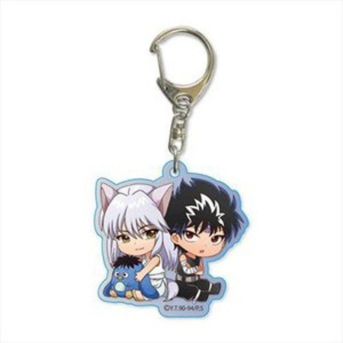 Yu Yu Hakusho Yoko Kurama and Hiei with Pu Key Chain
