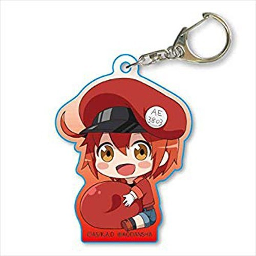 Cells at Work Red Blood Cell Holding Red Blood Cell Acrylic Key Chain