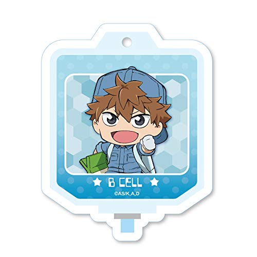 Cells at Work B Cell Blood Bag Acrylic Key Chain