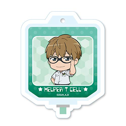 Cells at Work Helper T Cell Blood Bag Acrylic Key Chain