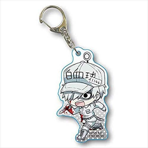 Cells at Work White Blood Cell w/ Bloody Knife Tekutoko Acrylic Key Chain