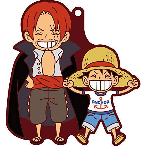 One Piece Shanks and Luffy Pairs Rubber Key Chain