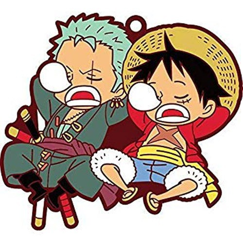 One Piece Luffy and Zoro Pairs Rubber Key Chain