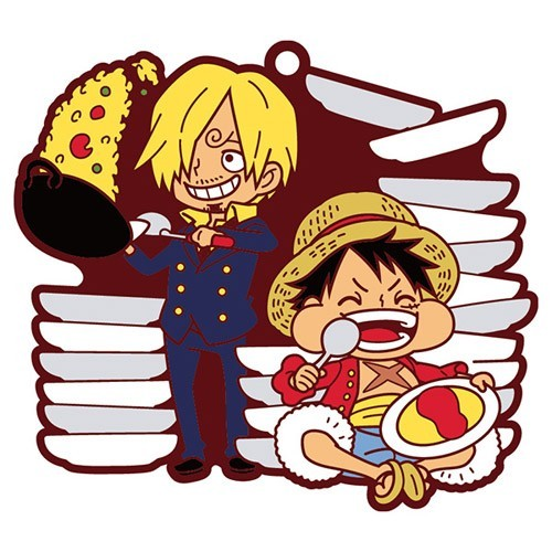 One Piece Luffy and Sanji Pairs Rubber Key Chain